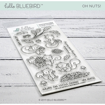 Hello Bluebird OH NUTS! Clear Stamps hb2216