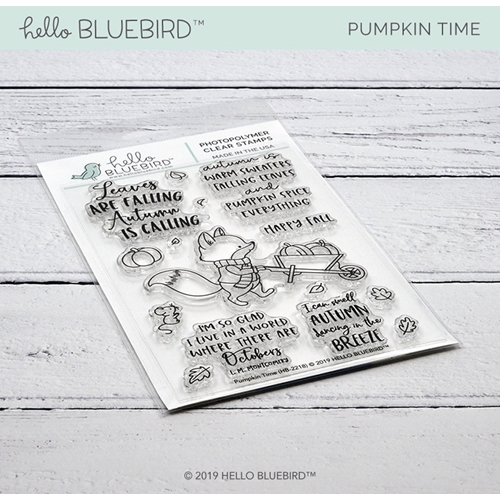 Hello Bluebird PUMPKIN TIME Clear Stamps hb2218 Preview Image