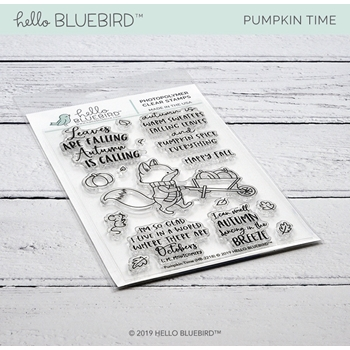 Hello Bluebird PUMPKIN TIME Clear Stamps hb2218