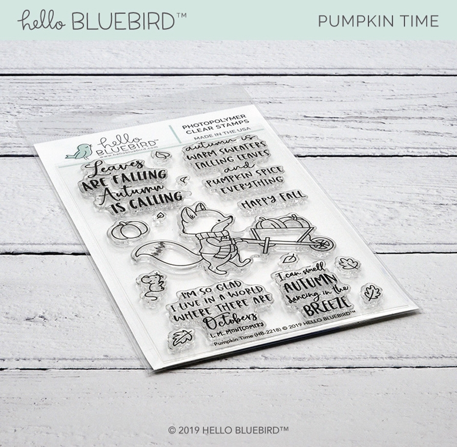 Hello Bluebird PUMPKIN TIME Clear Stamps hb2218 zoom image