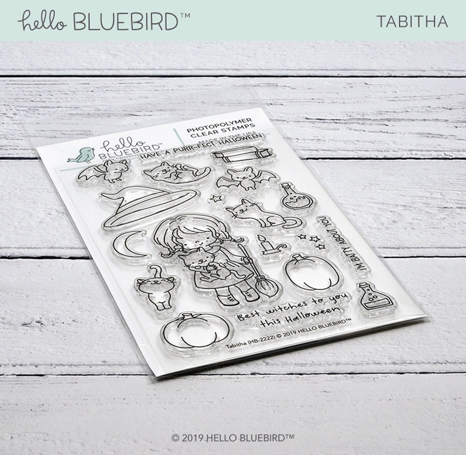 Hello Bluebird TABITHA Clear Stamps hb2222 zoom image