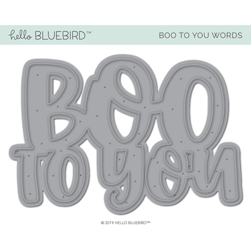 Hello Bluebird BOO TO YOU Die hb2224 Preview Image
