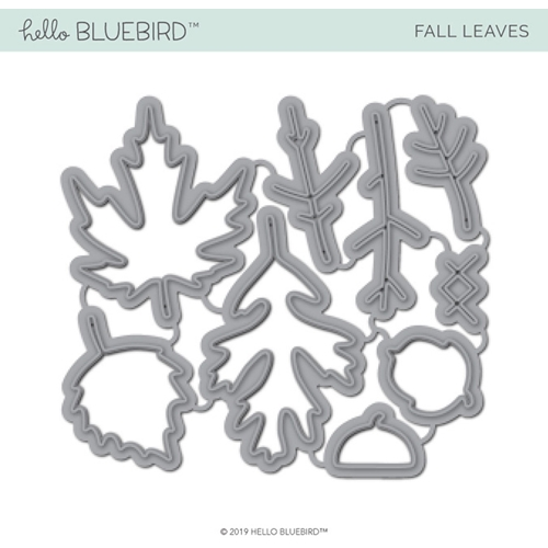 Hello Bluebird FALL LEAVES Die Set hb2225 Preview Image