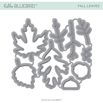 Hello Bluebird FALL LEAVES Die Set hb2225