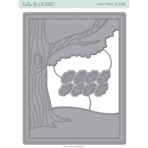Hello Bluebird OAK TREE SCENE Die Set hb2227 Preview Image