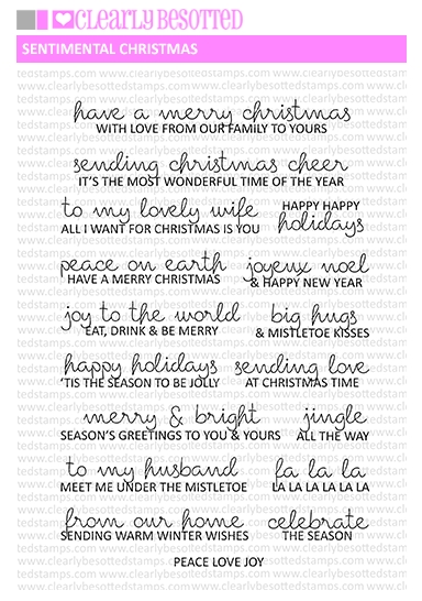 Clearly Besotted SENTIMENTAL CHRISTMAS Clear Stamps  zoom image