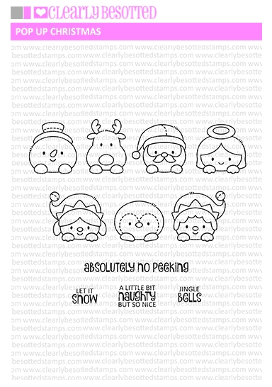 Clearly Besotted POP UP CHRISTMAS Clear Stamps zoom image