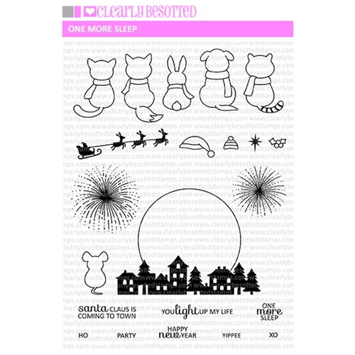 Clearly Besotted ONE MORE SLEEP Clear Stamps Preview Image