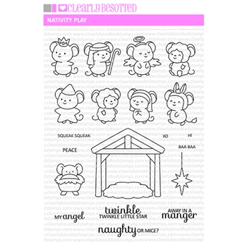 Clearly Besotted NATIVITY PLAY Clear Stamps