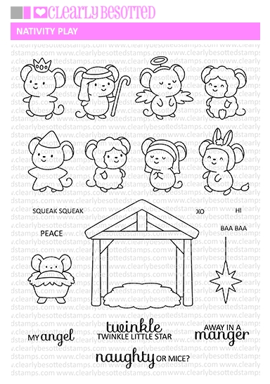 Clearly Besotted NATIVITY PLAY Clear Stamps zoom image