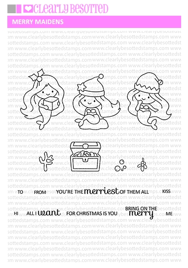 Clearly Besotted MERRY MAIDENS Clear Stamps  zoom image