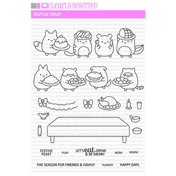 Clearly Besotted FESTIVE FEAST Clear Stamps