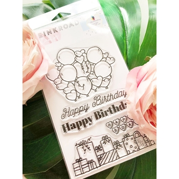 The Ink Road MARI PARTY Clear Stamp Set inkr099