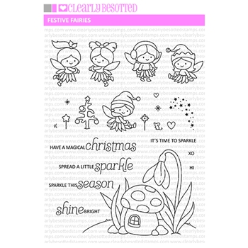 Clearly Besotted FESTIVE FAIRIES Clear Stamps
