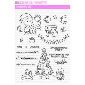 Clearly Besotted CHRISTMAS SEA Clear Stamps