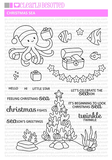 Clearly Besotted CHRISTMAS SEA Clear Stamps zoom image
