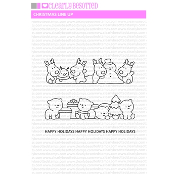 Clearly Besotted CHRISTMAS LINE UP Clear Stamps