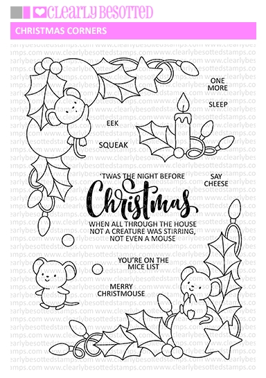 Clearly Besotted CHRISTMAS CORNERS Clear Stamps zoom image