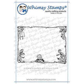 Whimsy Stamps ZOMBIE FRAME Rubber Cling Stamp DDB0034