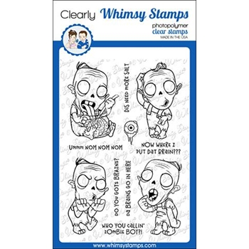 Whimsy Stamps ZOMBIE BOY Clear Stamps CWSD288