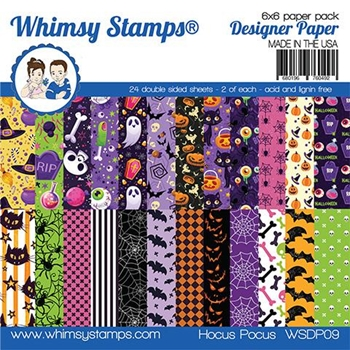 Whimsy Stamps HOCUS POCUS 6 x 6 Paper Pads WSDP09