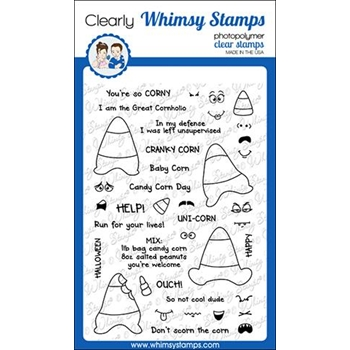 Whimsy Stamps CORNY CANDY CORNS Clear Stamps CWSD225