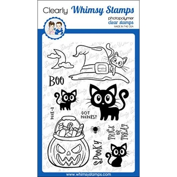 Whimsy Stamps GOT PEEPERS Clear Stamps CWSD286