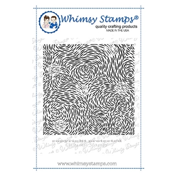 Whimsy Stamps ILLUSIONS Background Cling Stamp DDB0033