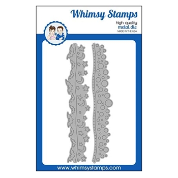 Whimsy Stamps BATS AND BUBBLES Border Dies WSD352