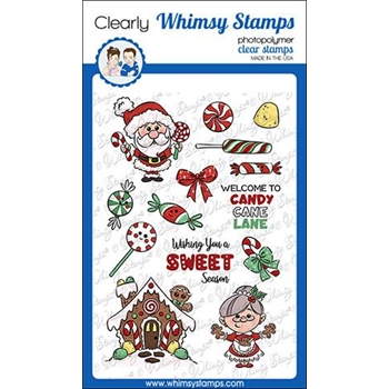 Whimsy Stamps CANDY CANE LANE Clear Stamps KHB142