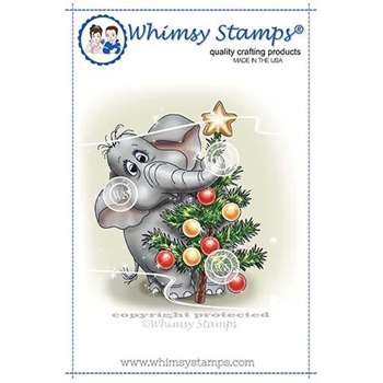 Whimsy Stamps ELLIE'S QUESTION Rubber Cling Stamp C1346
