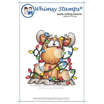 Whimsy Stamps MOOSE TANGLE Rubber Cling Stamp DP1025