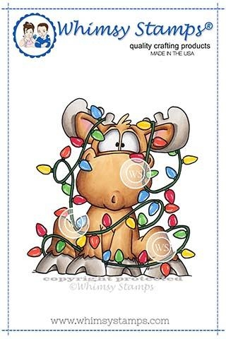 Whimsy Stamps MOOSE TANGLE Rubber Cling Stamp DP1025 zoom image