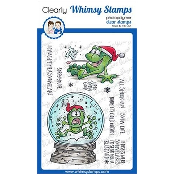 Whimsy Stamps TOADALLY SNOWY Clear Stamps DP1027