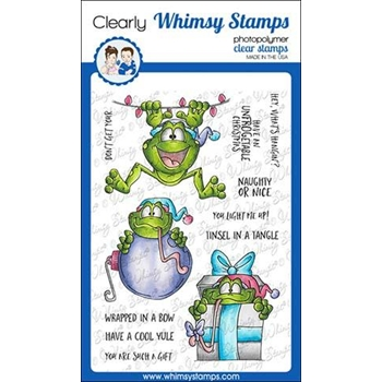 Whimsy Stamps MISTLETOADS Clear Stamps DP1026