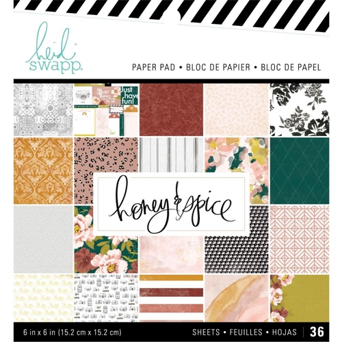 Heidi Swapp HONEY AND SPICE 6 x 6 Paper Pack 315203 Preview Image
