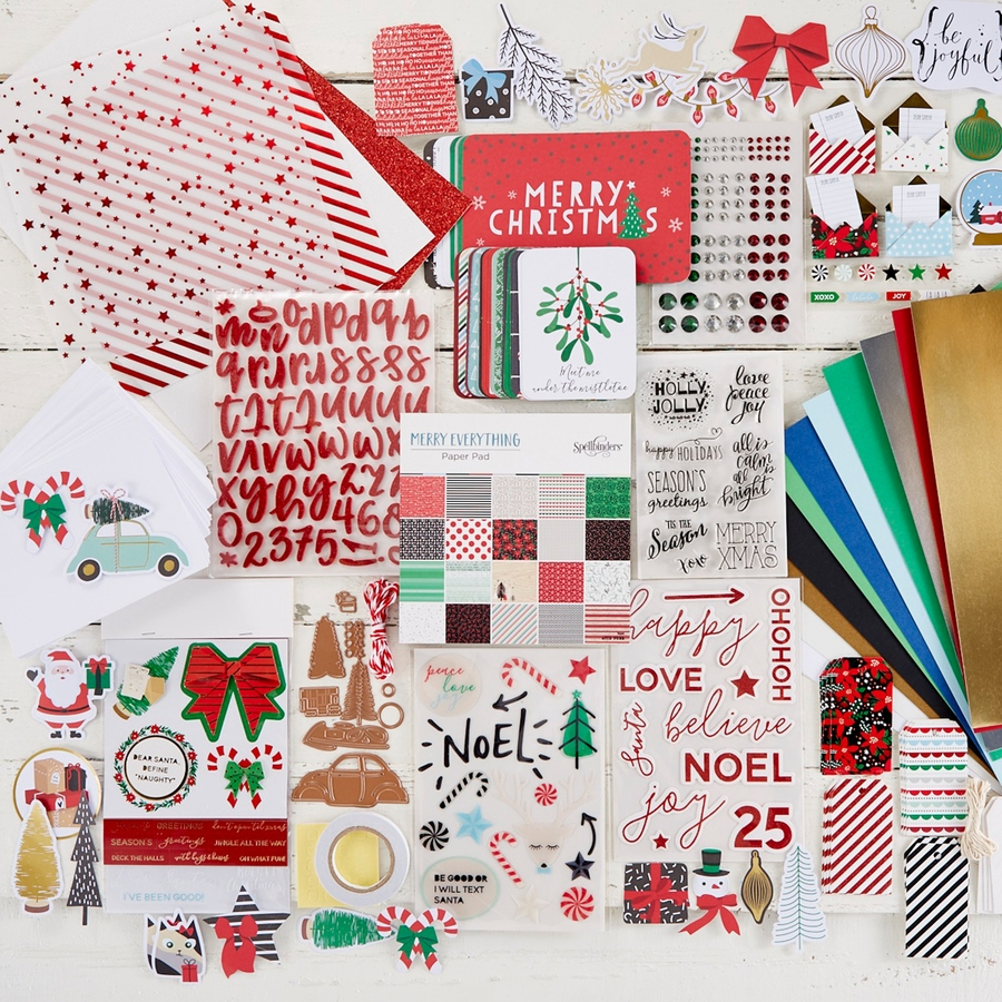 BD-0533 Spellbinders THE MERRY EVERYTHING CHRISTMAS Project Kit zoom image