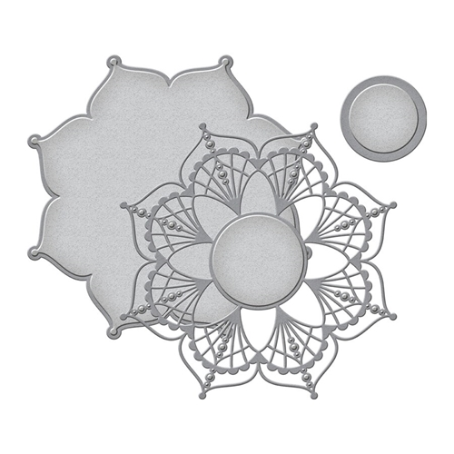 S5-406 Spellbinders DOILY ROUND Etched Dies Preview Image