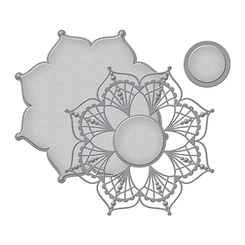 S5-406 Spellbinders DOILY ROUND Etched Dies