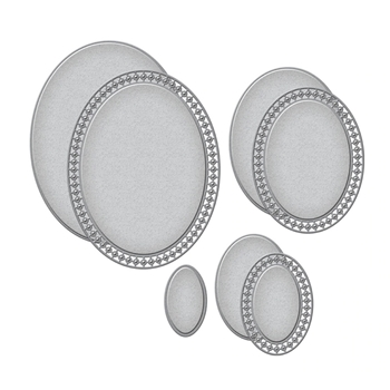 S5-401 Spellbinders CANDLEWICK OVALS Etched Dies