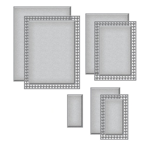 S5-399 Spellbinders CANDLEWICK RECTANGLES Etched Dies Preview Image