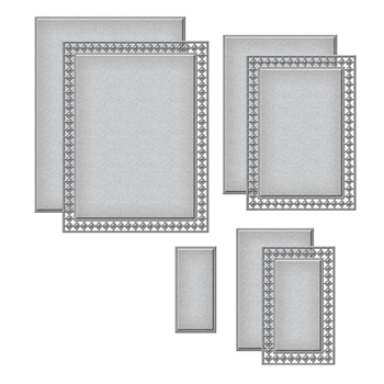 S5-399 Spellbinders CANDLEWICK RECTANGLES Etched Dies