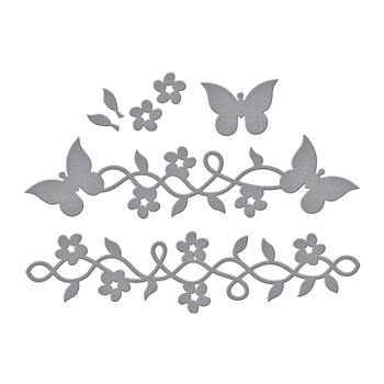 S3-389 Spellbinders BUTTERFLY FRAME A LONG Etched Dies