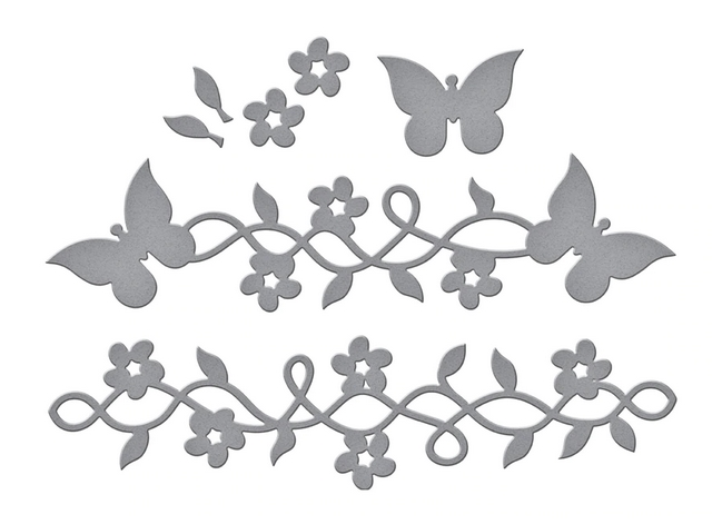 S3-389 Spellbinders BUTTERFLY FRAME A LONG Etched Dies zoom image