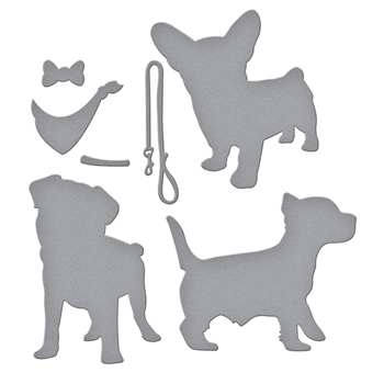S3-388 Spellbinders I HEART PUPPIES Etched Dies