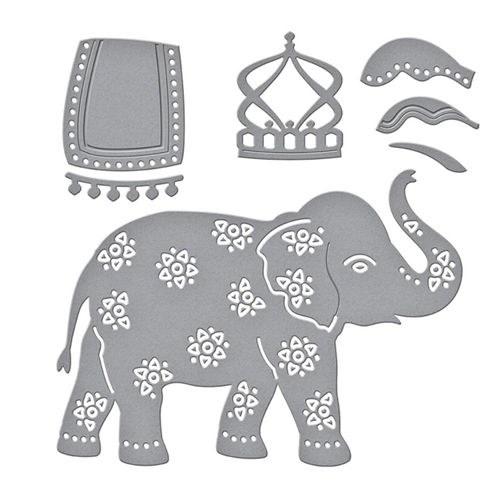 S3-385 Spellbinders ELEPHANT FESTIVAL Etched Dies Preview Image