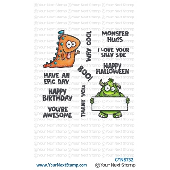 Your Next Stamp WAY COOL MONSTERS Clear cyns732*
