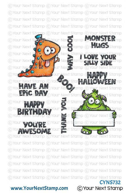 Your Next Stamp WAY COOL MONSTERS Clear cyns732 zoom image