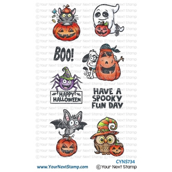 Your Next Stamp SPOOKY FUN Clear cyns734*