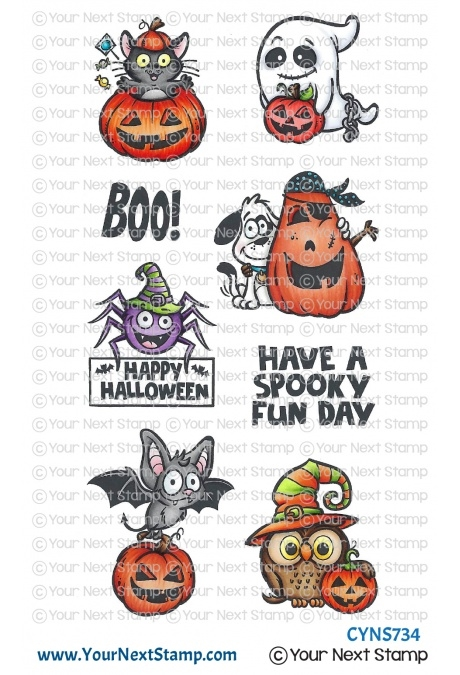 Your Next Stamp SPOOKY FUN Clear cyns734 zoom image